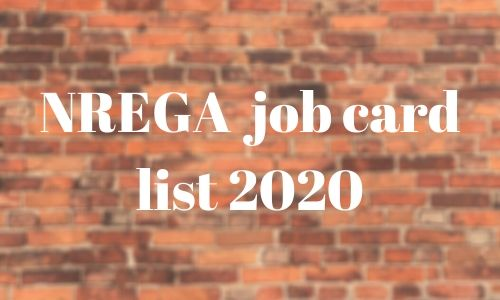 NREGA job card list 2020