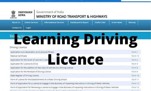 How To Apply for Learning Driving Licence Online