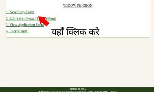 UP vidhava pension scheme online application
