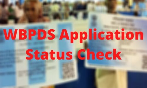 WBPDS Application Status Check