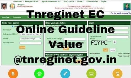 Tnreginet EC Online Guideline Value @tnreginet.gov.in