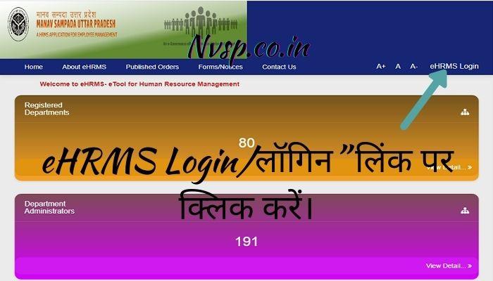 eHRMS Login पर क्लिक करें।