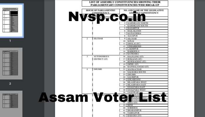 PC-wise list of ASSAM