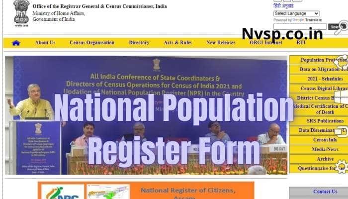 National Population Register Form